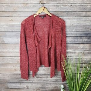 4/$20 Sale! Fever Red Knit Cardigan Size Medium